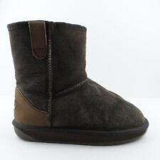 EWE by Gumbies Sheepskin Ankle Boot UK 4 Brown Suede Upper Pull On Boho Festival