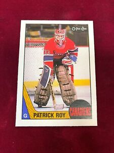 1987-88 O-Pee-Chee #163 PATRICK ROY Monteal Canadiens RC  (PL1)