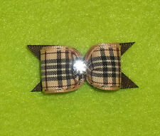 """Heavenly Dog Bow~5/8""""~X-Sm~S/L~De signer Plaid~Boys, Show or Casual~Yorkies+ More"""
