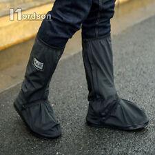 Wasserdichtes rutschfestes Motorrad Fahrrad Regen Stiefel Schuhe Deckel L Neu