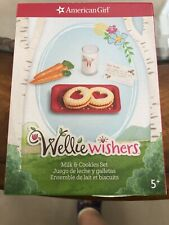 American Girl Wellie Wishers Milk and Cookies Set New Retired Santa Christmas