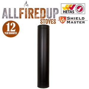 Shieldmaster Twin Wall Insulated Flue System Multifuel Flue Pipe Black