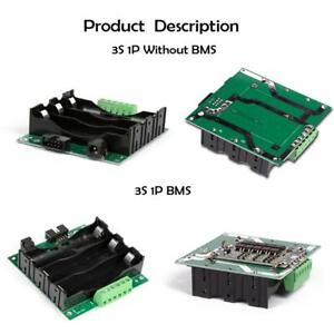 12.6V 3S DIY 18650 Lithium Battery PCB BMS 40A/80A Protection Board Holder