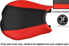 RED AND BLACK VINYL CUSTOM FITS DUCATI 848 1098 1198 FRONT SEAT COVER ONLY