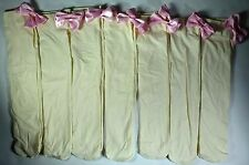 7 PAIRS WOMENS GIRLS IVORY WITH PINK SATIN BOW KNEE HIGH SOCKS 9-11 PS15
