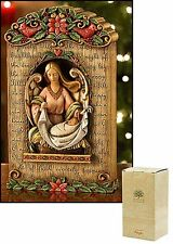 Angel at the Manger with Infant Jesus Plaque NEW SKU PD158