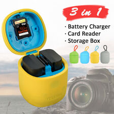 Camera Battery Charger Storage Box For Canon EOS 6D 60D 7D 70D 80D 5DS LP-E6