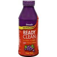 1x Bottle Ready Clean Grape Detox - Vitamins Minerals Herbal Cleanse 16oz