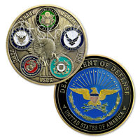 US Military Challenge Coin Armed Forces Family Pentagon Metal Emblem Collectible