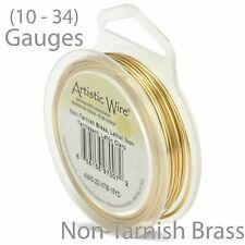 Non-Tarnish Brass Artistic Craft Wire  - Round Wire (10-34GA)