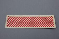 Ancien chromotransfert décalcomanie damier course rouge garage Précisia 60's
