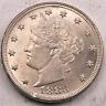 1883 (no cents) Liberty V Nickel ~ Gem BU ~ Planchet Flaw Obv #4401