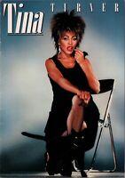 TINA TURNER 1984 PRIVATE DANCER WORLD TOUR CONCERT PROGRAM BOOK / NMT 2 MINT