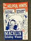 VINTAGE MACKLIN GRINDING WHEELS ADV. BOOKLET SALES BOOKLET 40's TO EARLY 50's