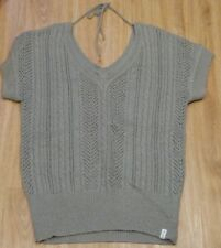 Damen edc ESPRIT Strick Pullover langer Pulli Kurzarm Wolle Winter Zopfmuster