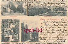 AK / Gruß aus Visselhövede, Schulgebäude, Gesamtansicht, Kirche  gel. 1901