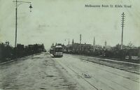 .MELBOURNE , FROM ST KILDA ROAD VICTORIA EARLY 1900'S POSTCARD