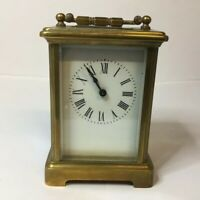 Antique 19th Century French Brass Carriage Clock R & C Made In Paris - Working