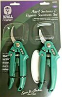 Bypass and Anvil Secateurs Pruner Set Spear and Jackson County 4858GCG
