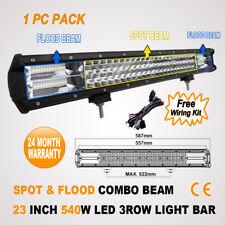 23 INCH 3 ROW 540W LED SPOT FLOOD OFFROAD DRIVING WORK LIGHT BAR -108W/126W/180W