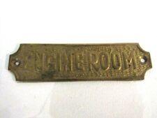 "Solid Brass ""Engineroom"" Door Sign Nautical Boat Bath Room Decor"