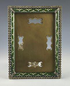 "Jay Strongwater Picture Frame 4x6 ""Lorraine"" Swarovski Crystals Mint Condition!!"