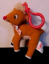 RUDOLPH THE RED NOSED REINDEER STUFFED TOY ORNAMENT WITH LATCH ON HOOK 1999