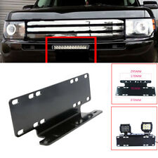 Car Front Bumper License Plate Mount Bracket Holder for Offroad Lamp Light Bar