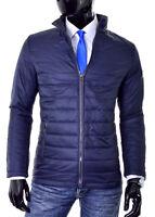 Mens Puffer Jacket Light Weight Padded Quilt Smart Look Slim Band Collar