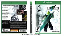 CUSTOM REPLACEMENT CASE  NO DISC Final Fantasy VII 7  XBOX ONE SEE DESCRIPTION