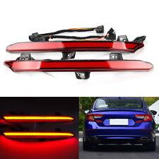 2X LED Rear Bumper Light Tail Flow Turn Signal Lamp For Honda Accord 10th 18-19