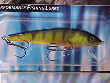 Salmo Sinking Minnow M9S-HP in HOT PERCH for Bass/Trout/Perch/Walleye/Pickerel