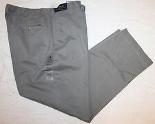 Polo Ralph Lauren Big and Tall Mens Gray Flat-Front Chinos Pants NWT 38 T x 36
