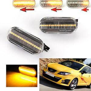 2x LED Dynamic Turn Signal Light Side Indicator For SEAT LEON Mk1 Mk2 1998-2012