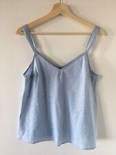 DECJUBA Cotton Linen Blue Chambray Singlet Size 8