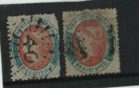 NEW SOUTH WALES 1856-59  (6D x 2) Registered USED. One with Bar 40 CDS