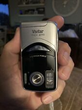 Vivitar ViviCam 4100 4.0MP Digital Camera - Black Silver-Tested Working
