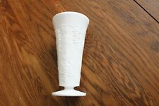 "Indiana Colony Harvest Grape White Milk Glass VASE'S 7.75"" x 3.75"" Vintage USA"