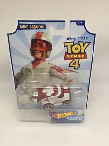 Hot Wheels Toy Story 4 Duke Caboom Character Cars Mattel Diecast Toy Cars