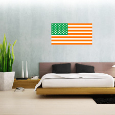 "Irish American Flag Wall Decal Large Vinyl Sticker 25"" x 13"""