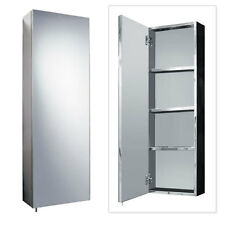Tall Mirrored Cabinet ; Stainless Steel 900 x 300mm ; Bathroom Storage Unit