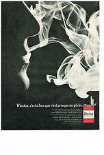 PUBLICITE  1968   WINSTON cigarettes  filtre