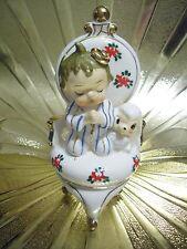 VTG Christmas Baby Shower Praying Little Boy on Chair Lamb Sheep Easter Figurine