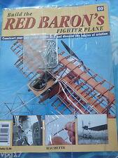 Costruire la RED BARON's FIGHTER AEREO FOKKER DR1 Hachette Fascicolo 60 NUOVI SIGILLATI