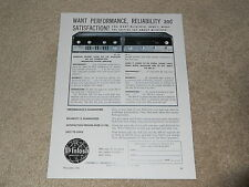 McIntosh MA 230 Amplifier Ad, MR 67 Tuner, 1 page, 1964, Tube Power