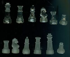 """s Pawn s 1.25/"""" tall Transparent Glass Chess Game Replacement Piece"""