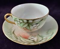 Vintage O&EG ROYAL AUSTRIA TEACUP & SAUCER Porcelain Fine China