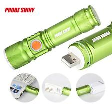 Zoom 3000LM Q5 USB Rechargeable LED Flashlight Torch Mini 3 Modes Portable