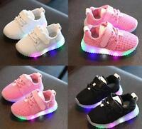 Lovely Children Boys Girls kids LED Light Running Sneakers Baby Shoes Toddler