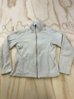 VTG PATAGONIA SYNCHILLA WOMEN SIZE SMALL WHITE FULL ZIP FLEECE JACKET USA MADE